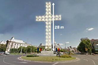Crucea din centrul Capitalei ar urma sa fie