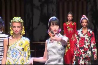 Noua colectie Dolce & Gabbana, dominata de moda anilor '50. Designerii au adus un omagiu tarii lor natale