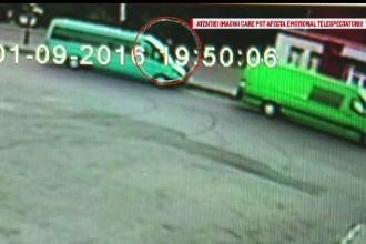 Momentul in care un sofer beat a lasat fara mama o fetita de 7 ani a fost surprins de camere.