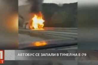 Un autobuz plin cu cetateni ai Republicii Moldova a luat foc pe o autostrada din Bulgaria. Un martor a filmat incidentul