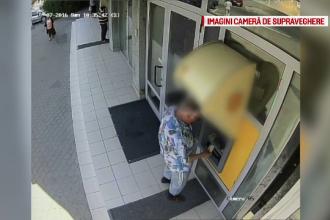 Cine este barbatul care a furat 500 de lei dintr-un bancomat din Focsani. Jaful, comis sub ochii fiicei sale