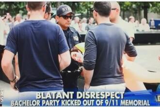 Gestul facut de mai multi tineri in locul in care a avut loc atacul din 11 septembrie. Au adus cu ei o papusa gonflabila