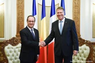 Francois Hollande, alaturi de Klaus Iohannis: