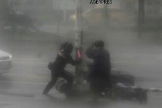 Taifunul Meranti a lovit China cu rafale care au atins peste 170 km/h. 180.000 de locuinte au ramasa fara curent FOTO