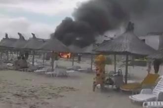 Panica pe o plaja din Eforie Nord. Turistii au luat-o la fuga dupa ce o butelie a explodat
