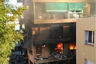 Explozie intr-o cladire de apartamente, in apropiere de Barcelona, soldata cu un mort si 14 raniti. VIDEO
