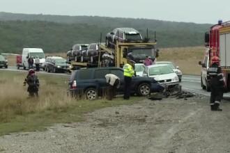 Patru accidente intr-o singura zi, pe acelasi drum din Brasov. O femeie de 64 de ani si-a pierdut viata
