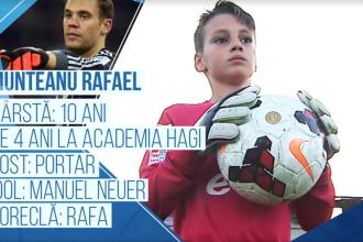 Campionii Viitorului. Micul Rafa, ca marele Neuer. Pustiul de doar 10 ani care apara poarta Academiei Hagi. VIDEO
