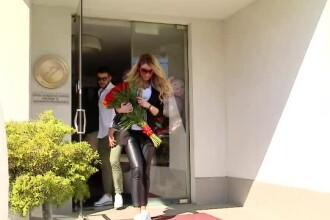 Primele imagini cu Bianca Dragusanu, dupa ce a fost externata. FOTO