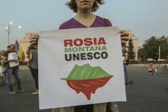 Proteste în stradă față de decizia Guvernului de stopa procedura de includere a Roșiei Montane în UNESCO