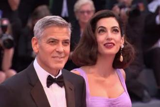 Festivalul din Veneția. George și Amal Clooney, prima apariție după nașterea gemenilor