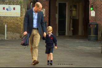 Prinţul George și emoţiile primei zile de şcoală