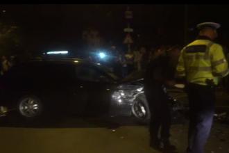 Accident în lanț în Pitești, provocat de un șofer de 20 de ani vitezoman