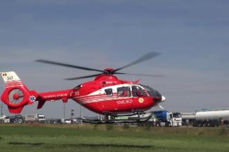 Fetiță de 4 ani, transportată la spital cu elicopterul SMURD. A căzut de la etaj