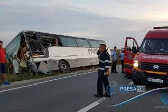 Accident cu un autocar în Satu Mare. 13 oameni au fost răniți