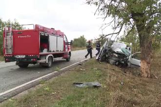 Un șofer din Arad s-a răsturnat luni cu autoturismul, iar marți l-a izbit de un copac