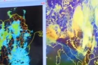 """Explicația fenomenului extrem care a lovit vestul țării. Meteorolog: """"S-au format nori de 12-13 km înâlțime"""""""