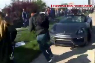 Bolidul a ieşit de pe carosabil şi a intrat pe trotuar în mulțime. Scenele filmate în Idaho