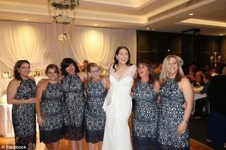 Situație jenantă la o nuntă. Șase femei au venit îmbrăcate cu același model de rochie