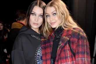 Surorile Hadid au fost vedetele prezentării de modă Tommy Hilfiger de la Londra