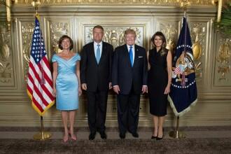 Klaus Iohannis şi soţia sa s-au fotografiat alături de Melania şi de Donald Trump la ONU
