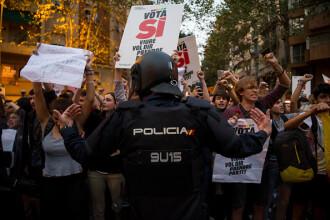 Tensiuni maxime între autoritățile spaniole și cele catalane. Protestele desfășurate în stradă