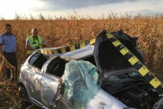 Accident în Brăila. O femeie a murit, iar soţul şi cei doi copii sunt grav răniţi