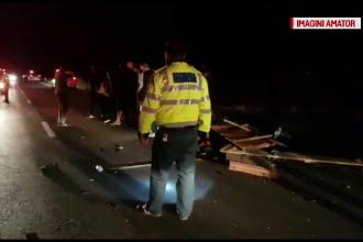 Trei oameni răniți, după ce o căruță a fost spulberată de un autoturism, în Dâmbovița