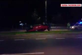 Carambol pe o stradă în Craiova. Cum au ajuns să se ciocnească trei mașini