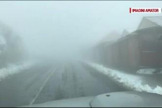 A nins în Făgăraș. Imagini filmate pe Transfăgărășan și la Bâlea Lac
