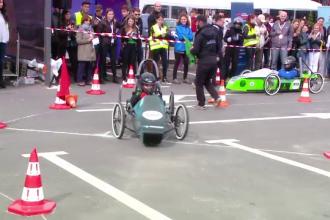 Mașini electrice construite și testate de elevii unui liceu din Brașov