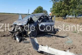 Accident pe DN3. Un fotbalist, transportat cu elicopterul la spital