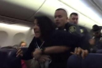 Pasageră debarcată cu forța din avion, din cauza unei alergii