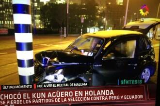 Sergio Aguero a suferit un accident rutier în Olanda. FOTO
