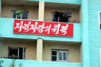 """""""Război decisiv cu SUA"""". Mesajele apărute pe străzile din Coreea de Nord"""