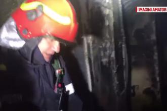 Primele imagini din interiorul blocului din Capitală distrus de incendiu. 54 de familii au rămas fără locuință