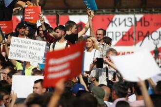 Zeci de persoane, reținute în Rusia. Oamenii au protestat împotriva creșterii vârstei de pensionare