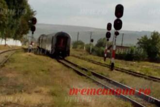 Un tren nu a reuşit să oprească în gara Bârlad. Explicaţia CFR