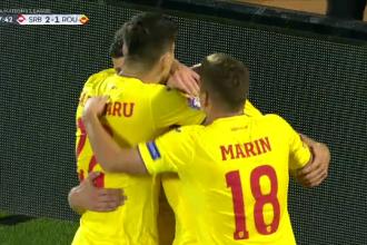 Serbia - România 2-2 în UEFA Nations League. Condusă de două ori, România a obţinut o remiză