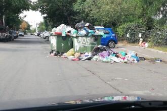 Mai multe străzi din București sunt pline de gunoaie. Locuitorii sectorului 3, disperați