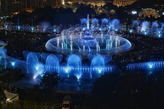 Fântânile din Piața Unirii din Capitală au stabilit un nou record mondial