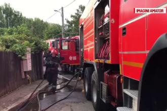 Un bărbat a murit carbonizat într-un incendiu din Cernica. Doi copii au suferit arsuri