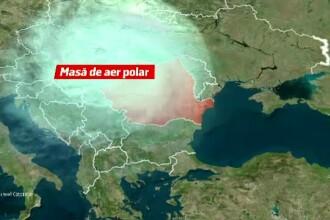 O masă uriașă de aer arctic va lovi de 2 ori România, începând de sâmbătă. Temperaturile scad drastic și ar putea ninge
