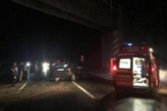 Accident grav în Brașov: trei răniți, după ce un autotren care transporta oi s-a răsturnat pe o mașină