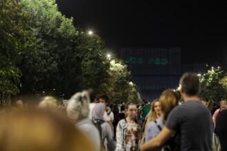 """IMapp 2018: mesajul """"jos-PSD"""", pe Casa Poporului. Spectatorii au început să aplaude"""