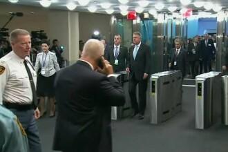 Momentul sosirii lui Klaus Iohannis la ONU. Luni a fost la un dineu cu Trump. VIDEO