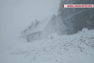 Viscolul și frigul s-au instalat în Făgăraș. Șoferii, prinși nepregătiți