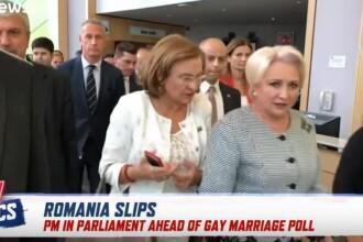 Reacția lui Dăncilă, abordată la Bruxelles de un corespondent Euronews. VIDEO