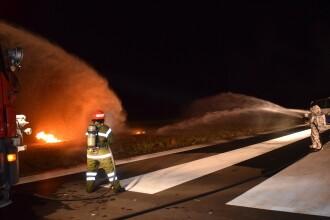 Catastrofă aviatică, simulată pe aeroportul din Târgu Mureş. S-a declanşat Planul Roşu