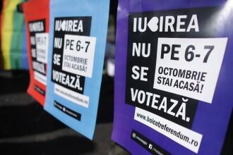 150 de oameni au protestat față de referendum, în Piața Victoriei: